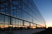110m long curtain wall for steel structure, erected in Brescia, Italy